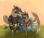 Celestia's dragon-guardian - commission by Floverale-Hellewen