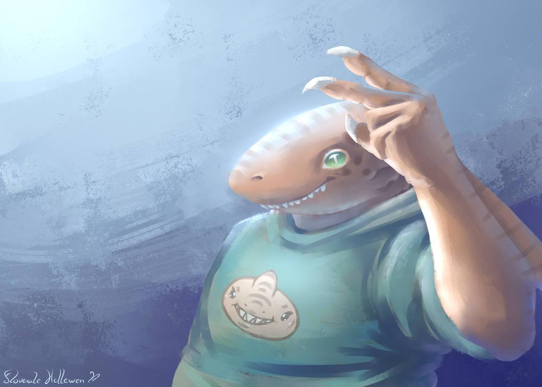 Sharky guy - trade by Floverale-Hellewen