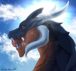 Maro dragon - Portrait commission by Floverale-Hellewen