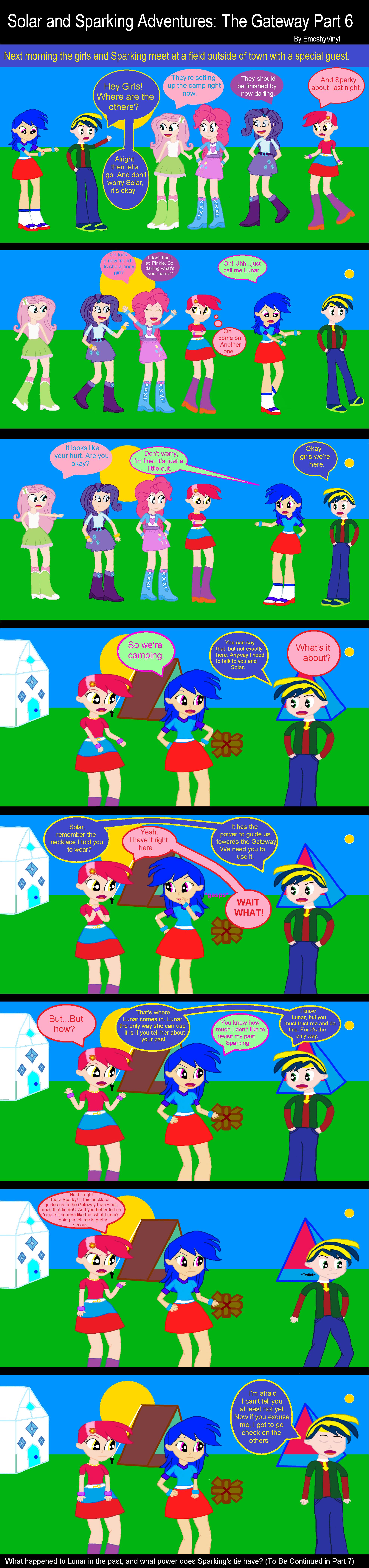 Solar and Sparking Adventures: The Gateway Part 6 by EmoshyVinyl
