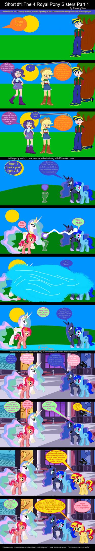 Short #1: The 4 Royal Pony Sisters Part 1 by EmoshyVinyl