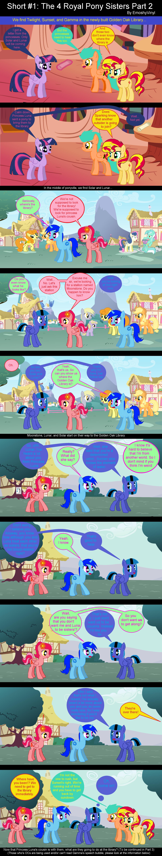 Short #1: The 4 Royal Pony Sisters Part 2 by EmoshyVinyl