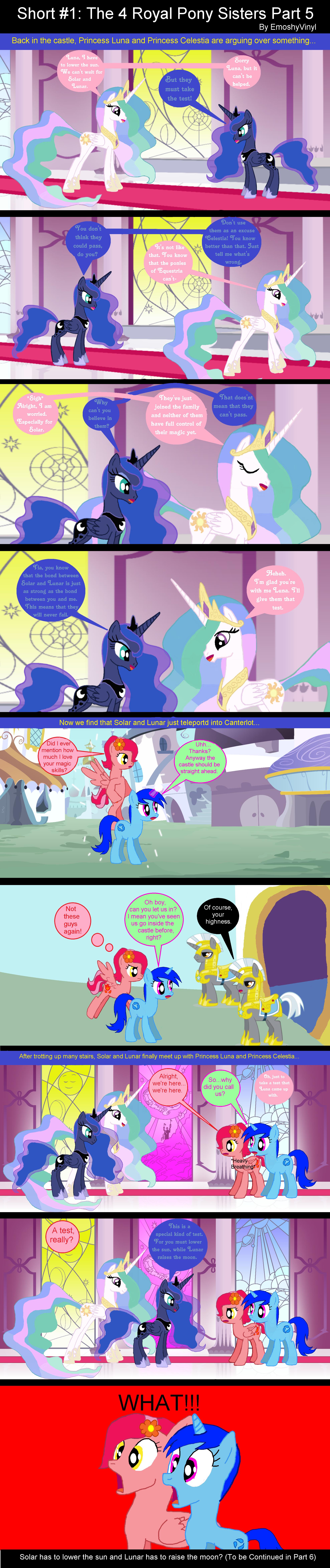 Short #1: The 4 Royal Pony Sisters Part 5 by EmoshyVinyl