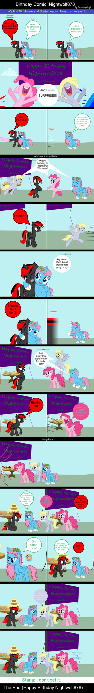 Birthday Comic: Nightwolf878 by EmoshyVinyl
