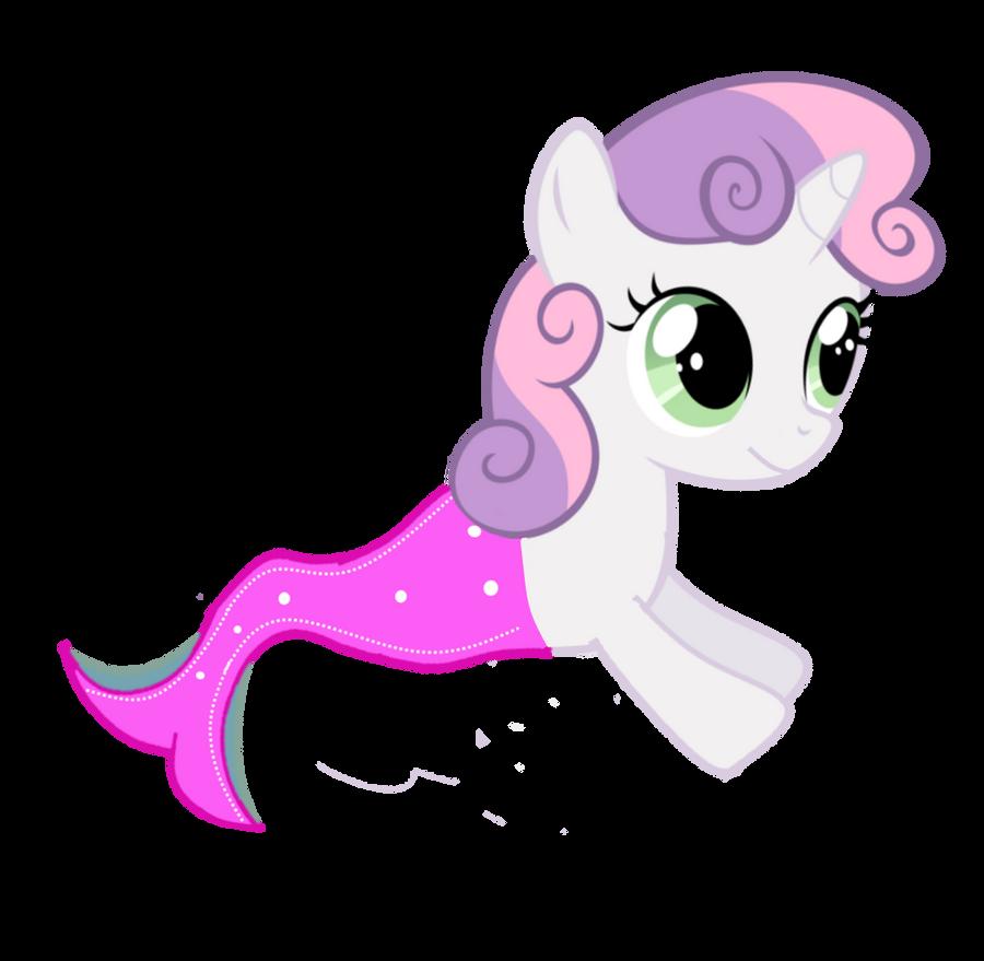 Merpony-Sweetie Belle (Request) by EmoshyVinyl
