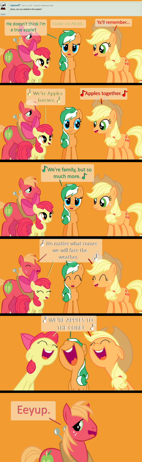 Ask Alexis #7-A True Apple by EmoshyVinyl