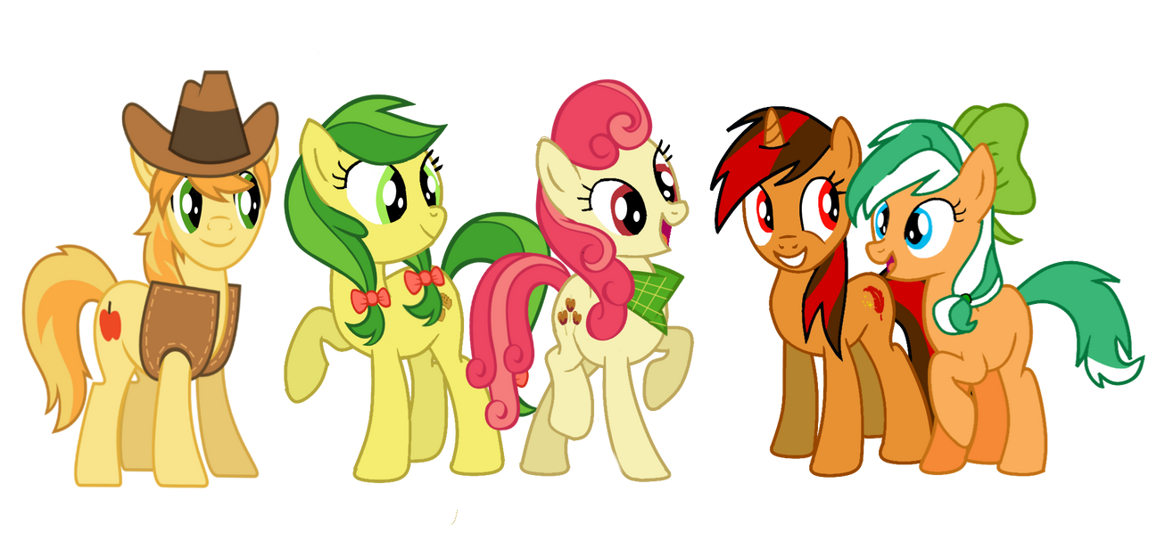 The Apple Family  and Pyre-Great Idea by EmoshyVinyl