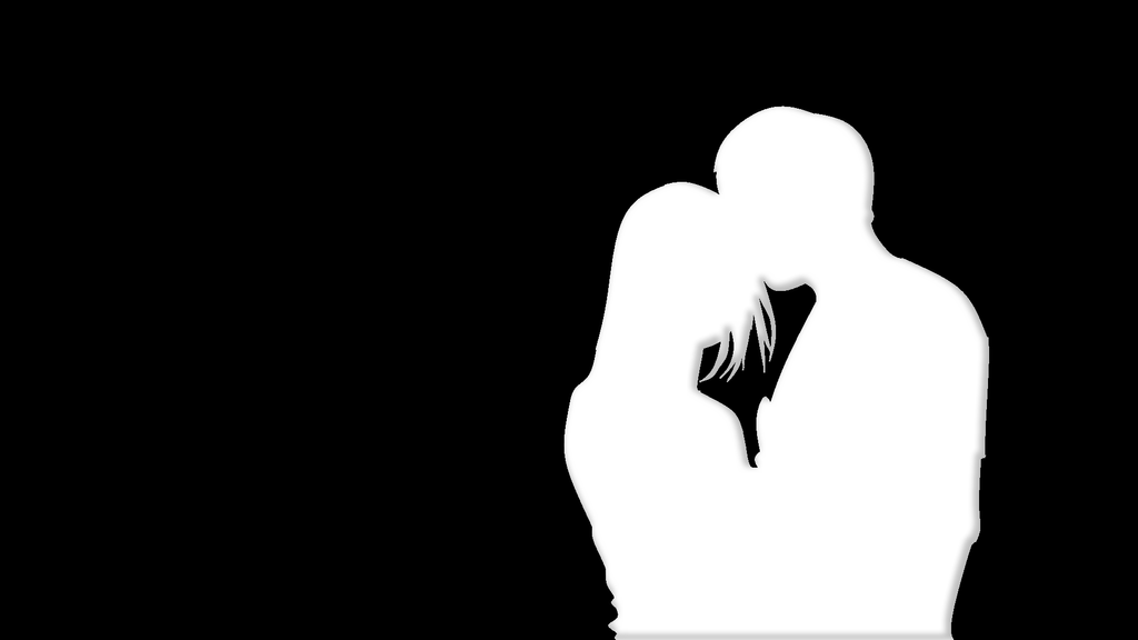 Silhouette-Young Couple by EmoshyVinyl