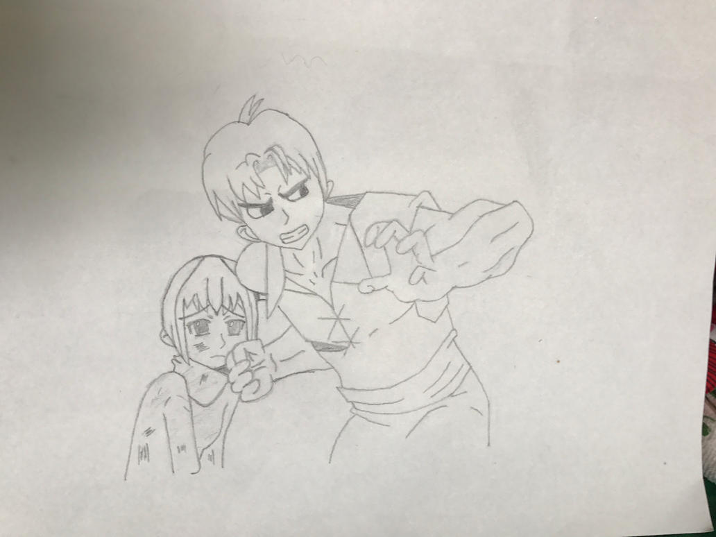 Hands off my sister!! (WIP 2) by EmoshyVinyl