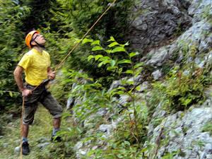 Climbing on Stone Bridg
