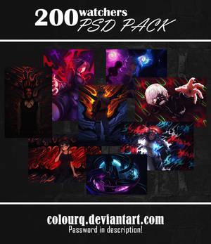 200 watchers PSD PACK