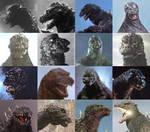 The faces of Godzilla
