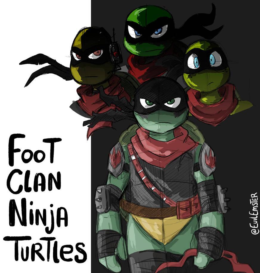 Foot Clan Ninja Turtles Tmnt By Theemster97 On Deviantart