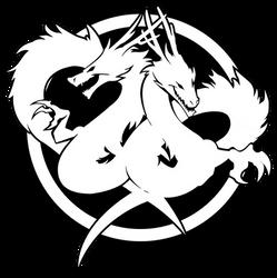 Double Dragon Neon Logo / Symbol by Reoer