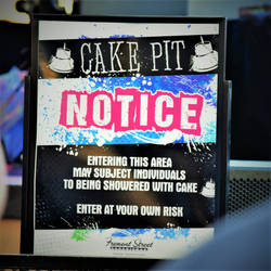 Beware of Flying Cake by digitalpigeon