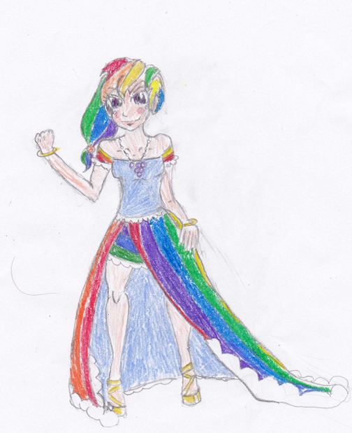 rainbow dash human gala dress by lovelye on deviantart