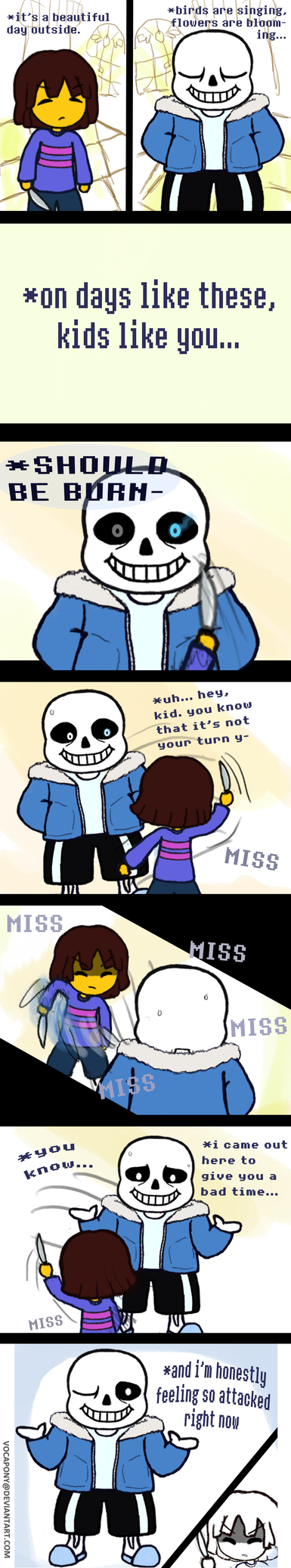Undertale Comic by Vocapony