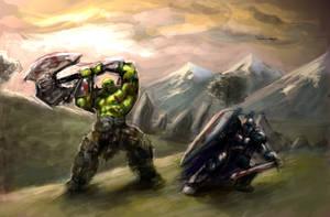 Orc Vs. Human by Kanaru92
