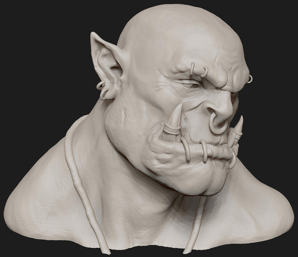 Garrosh Hellscream ZBrush Bust by Kanaru92