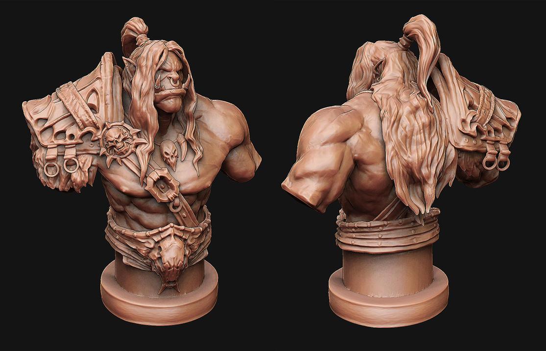 Grom Hellscream - 3D Print Design by Kanaru92