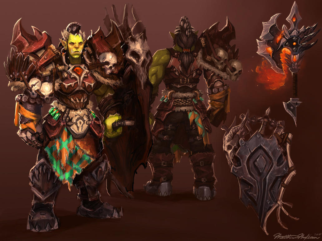 Orc Warrior Concept by Kanaru92