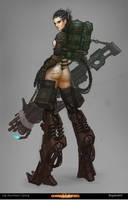 character design Cyborg V11 by Bogdanbl4