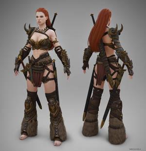 Barbarian Female T-pose