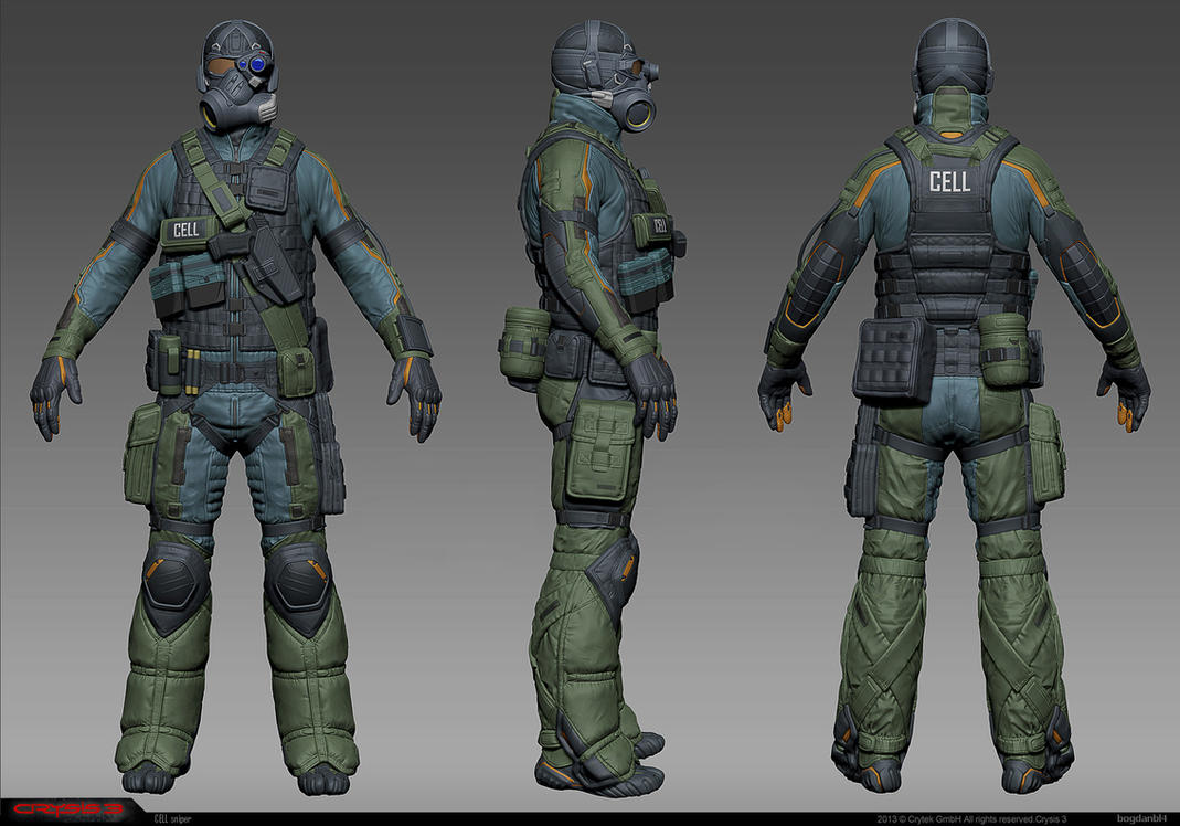 CELL Sniper high-res model by Bogdanbl4