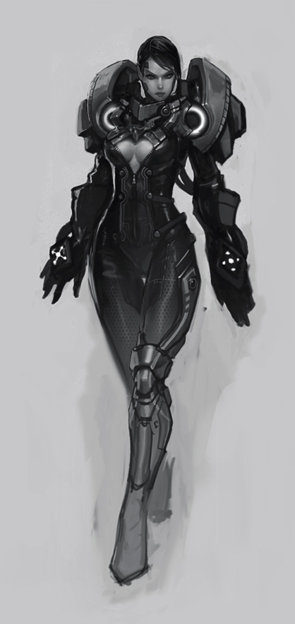 Female Juggernaut Concept by Bogdanbl4
