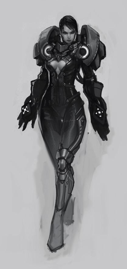 Female Juggernaut Concept by Bogdanbl4