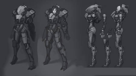 Cyborg Shark concept by Bogdanbl4