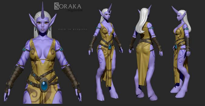 Soraka wip #2 by Bogdanbl4