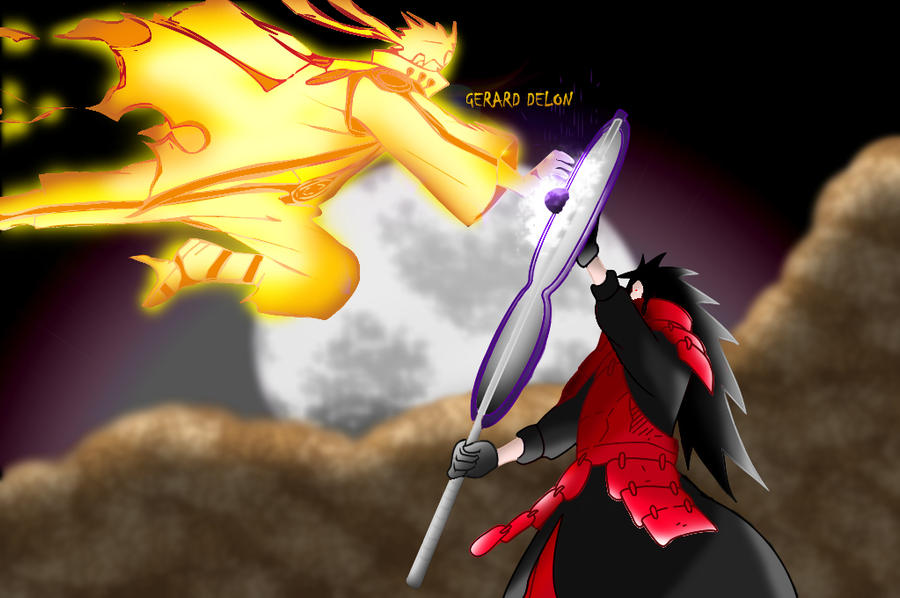 Naruto Vs Madara Uchiha By Gerard Delon by gerard-delon