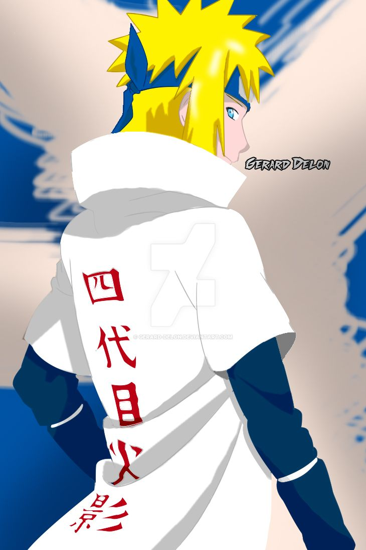 Minato Namikaze painting By Gerard Delon by gerard-delon