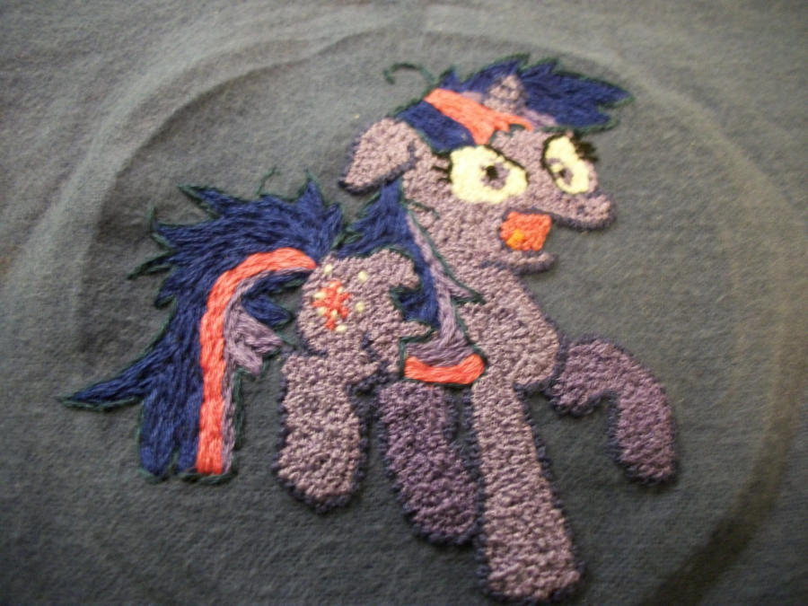 TWILIGHT SPARKLE handmade embroidery - unfinished by grandmoonma