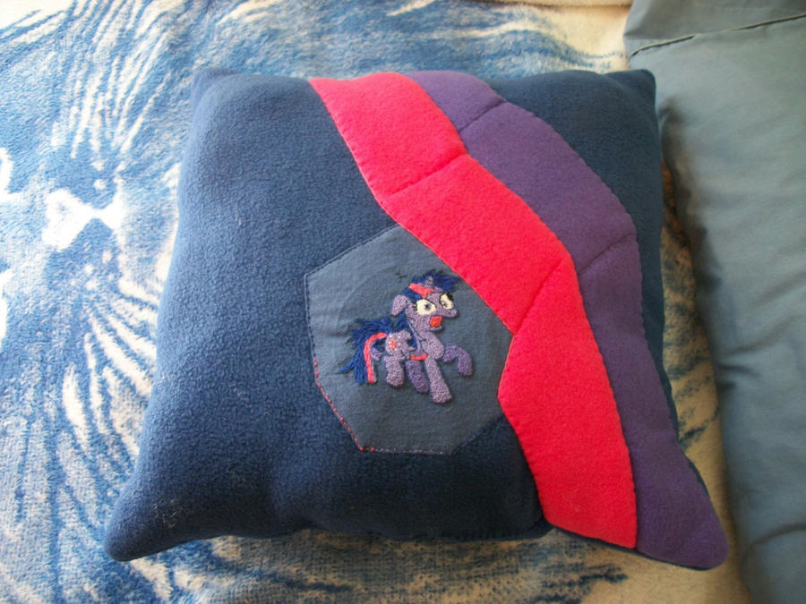 Twilight Sparkle Crazed Custom Plush Pillow by grandmoonma