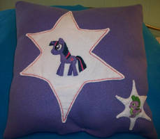 Twilight Sparkle and Spike plush pillow