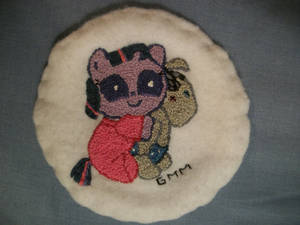 MLP-FIM Hand Embroidered Patch Twilight Sparkle