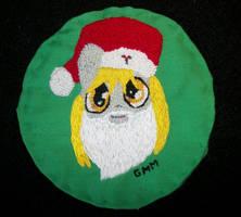 MLP-FIM Hand Embroidered Patch Santa Derpy