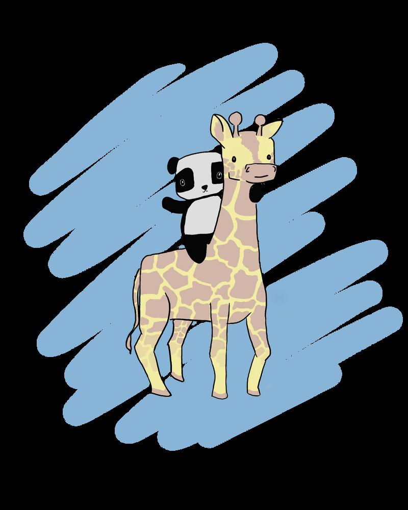 Panda On A Giraffe By Kakashi Is So Cool DeviantArt