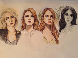 Lana Del Rey Album Cover Collage