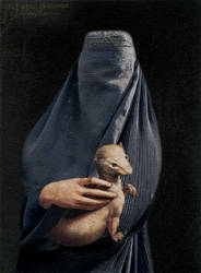 woman wit small animal