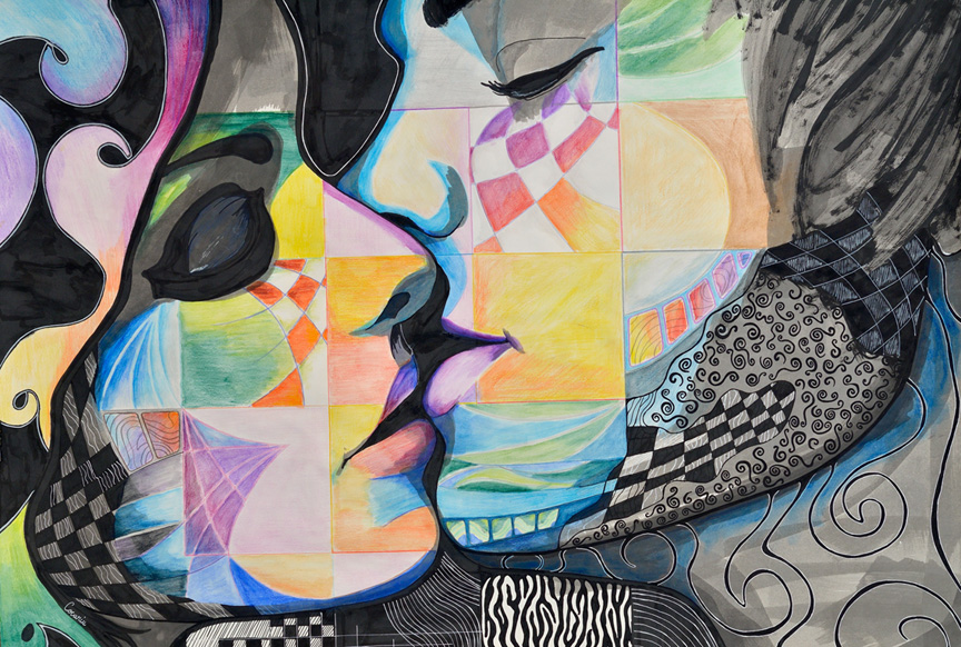 Sections - the kiss by roxanac