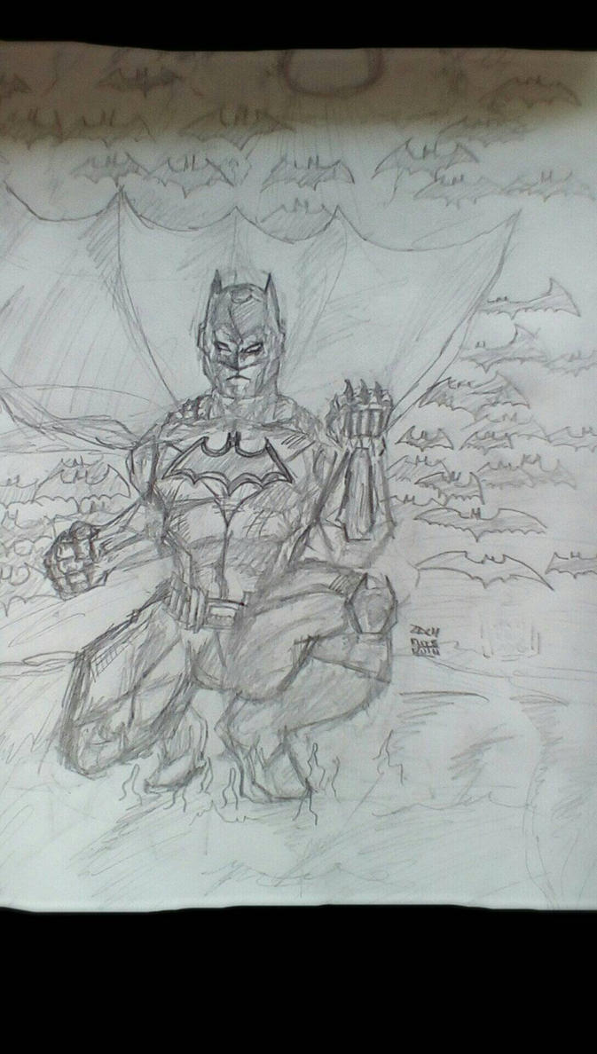 Batman pencils by Arrow217
