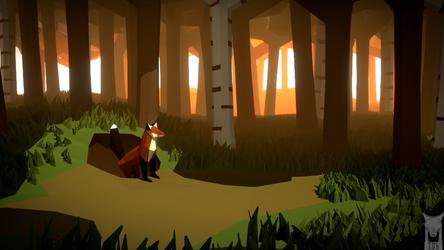 Low poly - fox hole by xxxscope001xxx