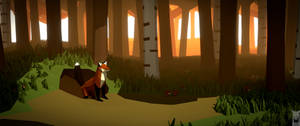 Low poly - fox hole 1440p