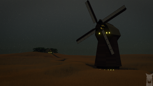 low poly - windmill by xxxscope001xxx