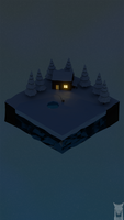 low poly - ice fishing by xxxscope001xxx