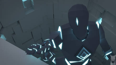 low poly - the void character