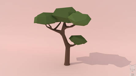 low poly - tree